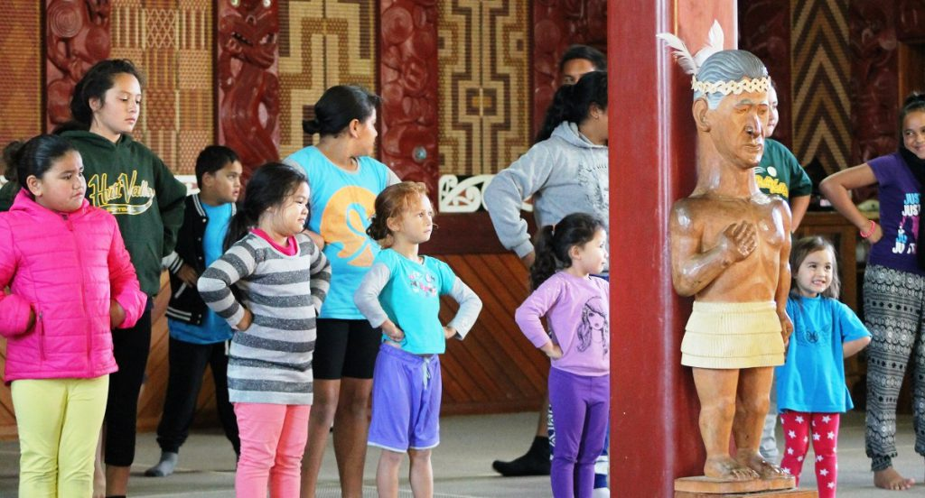 Tamariki of all ages participate in kapa haka at Waiwhetu Marae