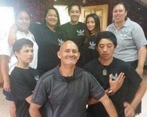 Shaneece Brunning, Kim Eriksen-Downs and other rangatahi at a wānanga in 2016.