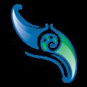 Blue-green E Tū Whānau logo