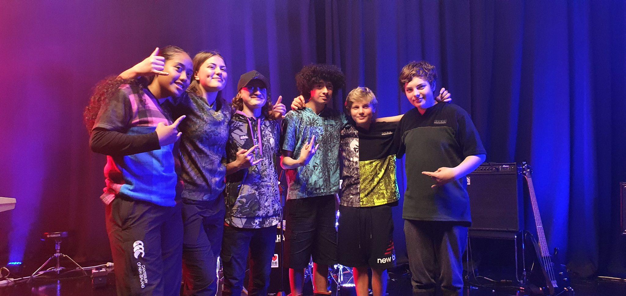 Tiare and the Young Guns of Taipa - winners of the 2020 E Tū Whānau Rangatahi Song Competition