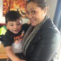 Mere Baker - E Tū Whānau kahukura with her nephew Hoani