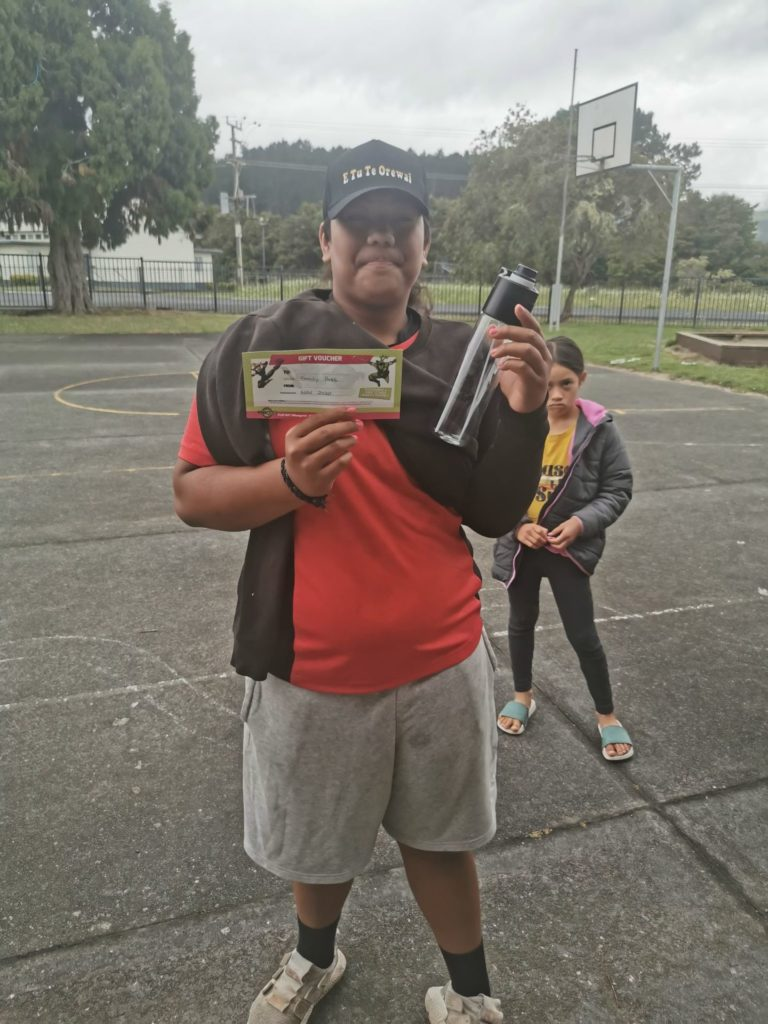 Image of rangatahi participant at the Te Horo School Moveathon