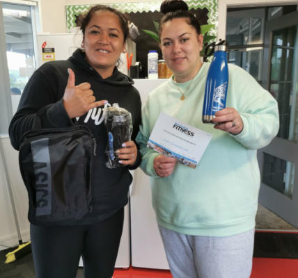 Members of Te Horo School community celebrate their achievements in the Moveathon