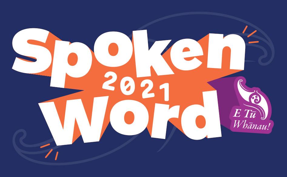 The E Tū Whānau Spoken Word Competition 2021 logo
