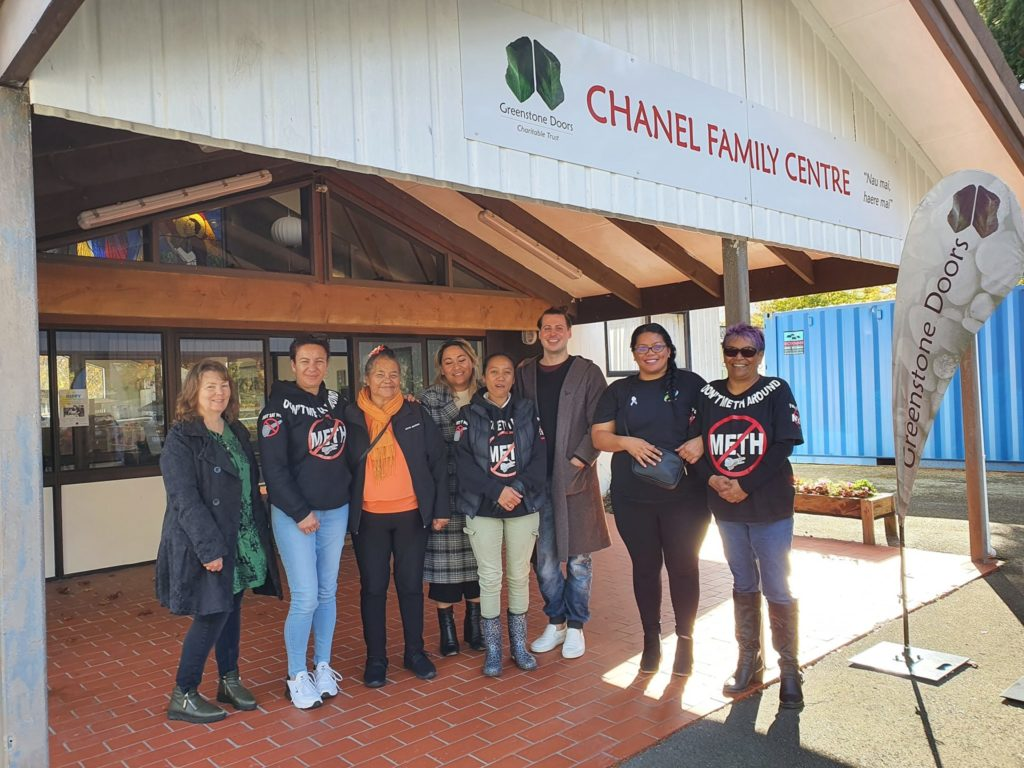 New Zealand P-Pull whānau at first monthly meth support meeting in Upper Hutt